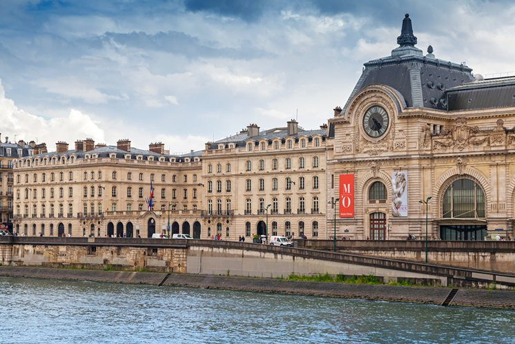 Paris, France, facade of the Orsay modern art Museum