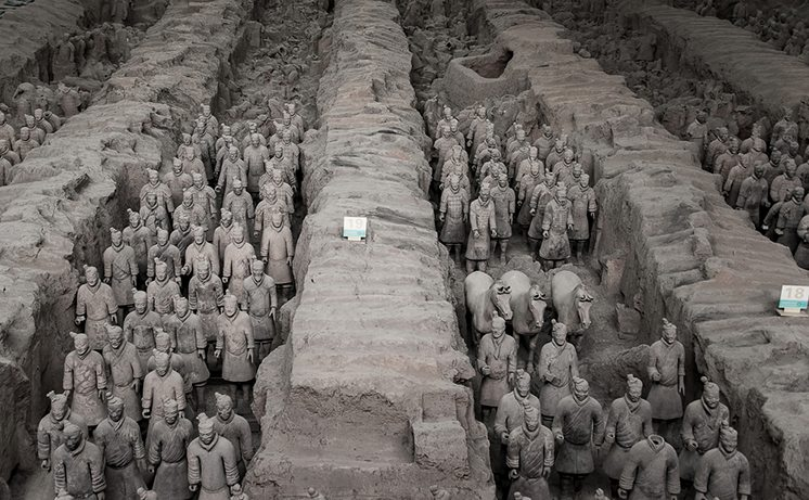 "XIAN,CHINA -OCT 24 :The Terracotta Army or the ""Terra Cotta Warr"