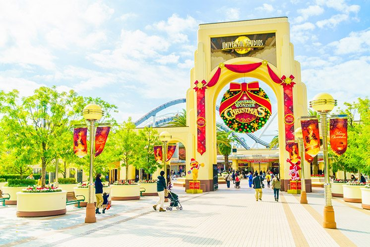 Osaka, Japan - December 1: The theme park attractions based on
