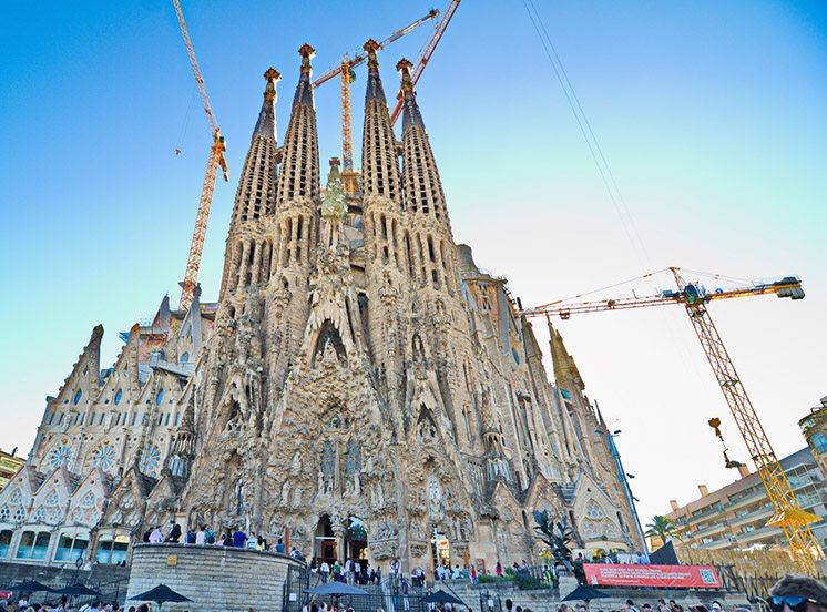 The Basilica de la Sagrada Familia, Barcelona