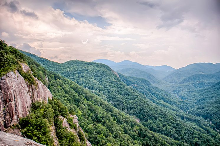 View from top of Chimney Rock near Asheville, North Carolina