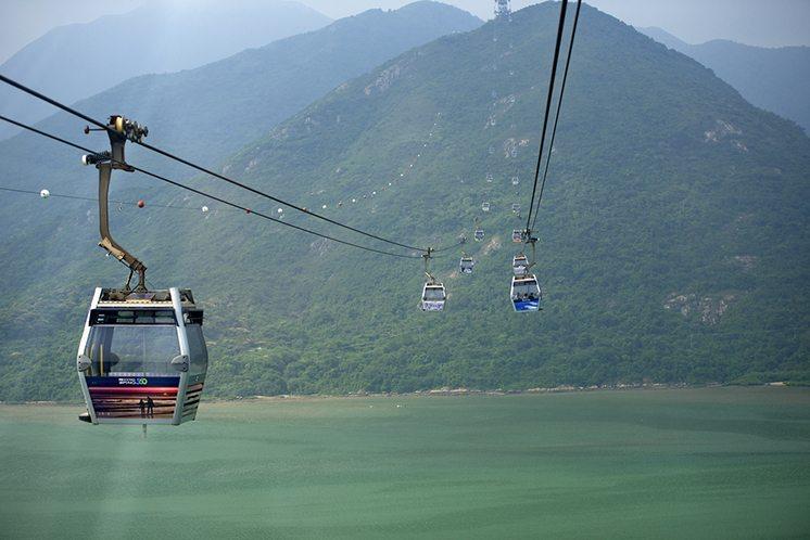 Hong Kong Cable Car at Ngong Ping , Hong Kong