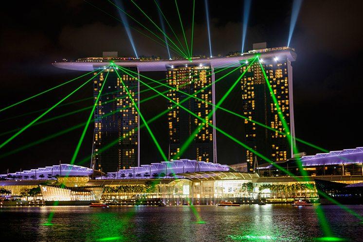 Singapore Marina Bay laser night show