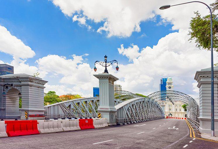 Anderson Bridge over Singapore River