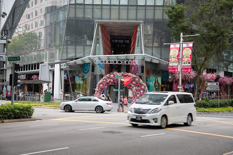 Orchard Central is a shopping mall, Singapore