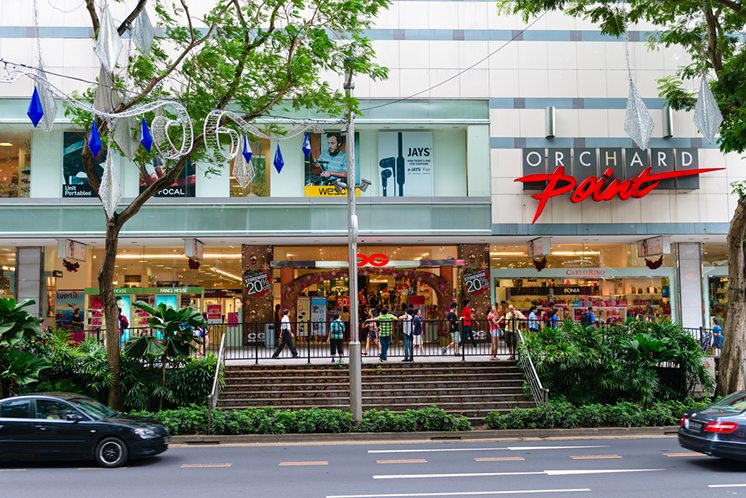 Orchard Point Mall in important commercial area in central Singa