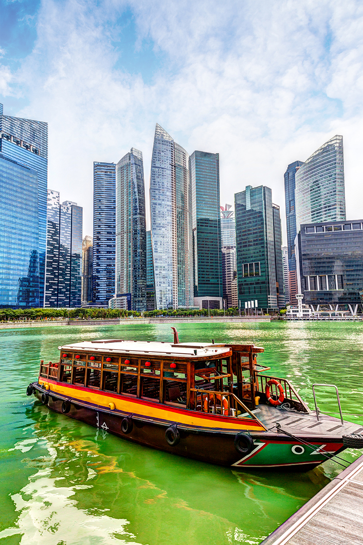 Singapore Business District on the Marina Bay