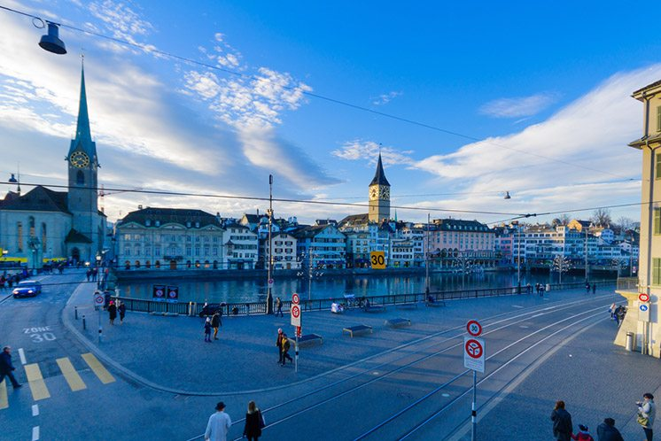 Old town and Limmat River, Zurich