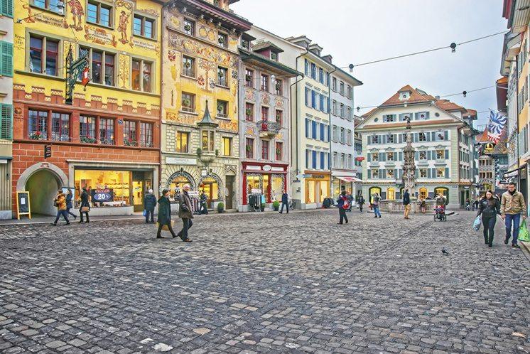 Muhlenplatz in Lucerne Old Town