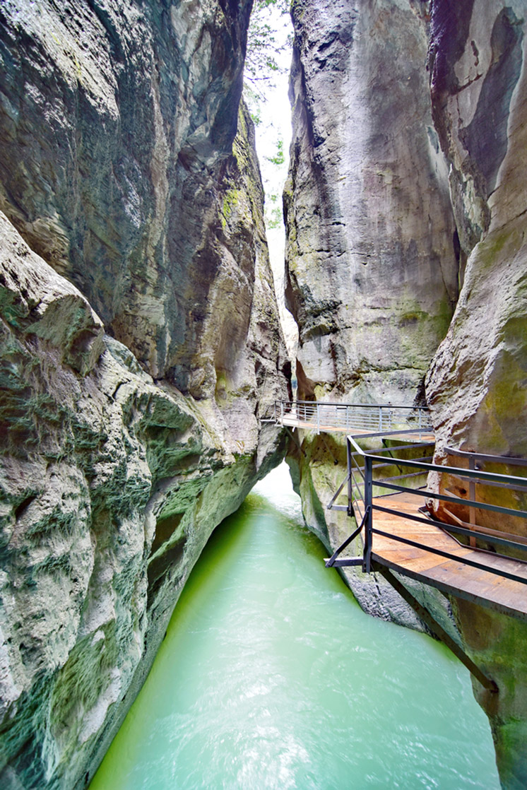 Aare Gorge - Aareschlucht on the River Aare