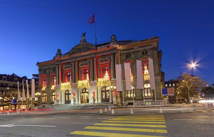 Grand Theatre or Big Theater, Geneva, Switzerland