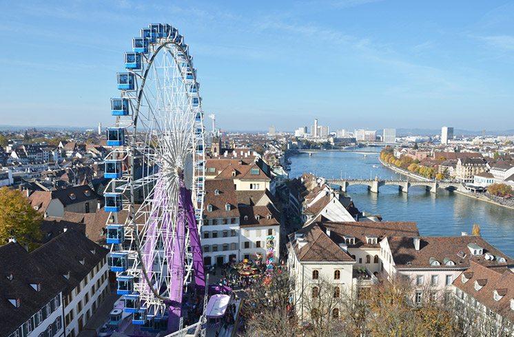 Traditional autumn fair in Basel, Switzerland