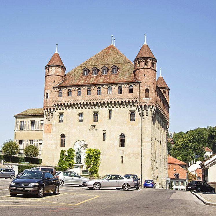 Lausanne Saint-Maire Castle (Chateau Saint-Maire) in summertime