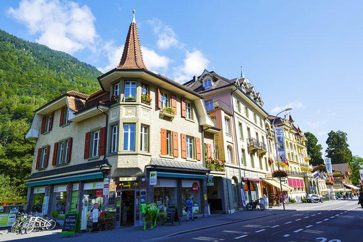 Interlaken, picturesque townhouses