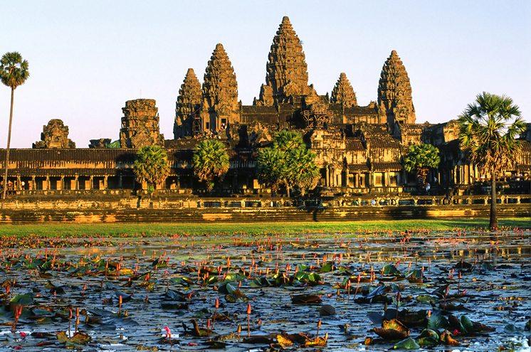 Angkor Wat at sunset, cambodia.
