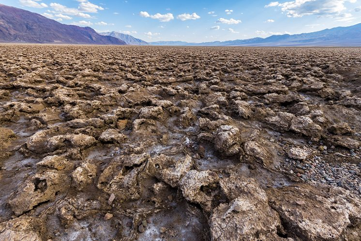 Cracked soil on Devils Golf Course, Death Valley, USA